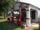 Former train and gas station in Metcalfe, North Carolina.  Now operates as a history center and museum.