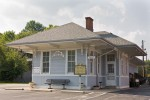 Former train station in Bloomfield, Kentucky.  Restored and now houses Bloomfield City Hall.