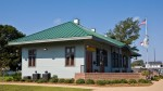 Former train station in Morehead City, North Carolina.  Restored and now operates as a municipal building and community center.