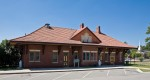 Former train station in Maxton, North Carolina.  Restored and now operates as a municipal building and community center.