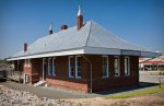 Former train station in Rockingham, North Carolina.  Restored and now operates as a municipal building and community center.