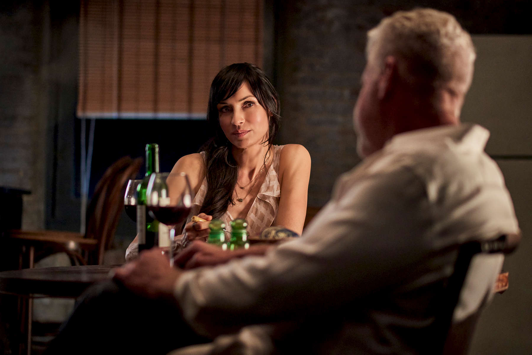 Famke Janssen and Ron Perlman
