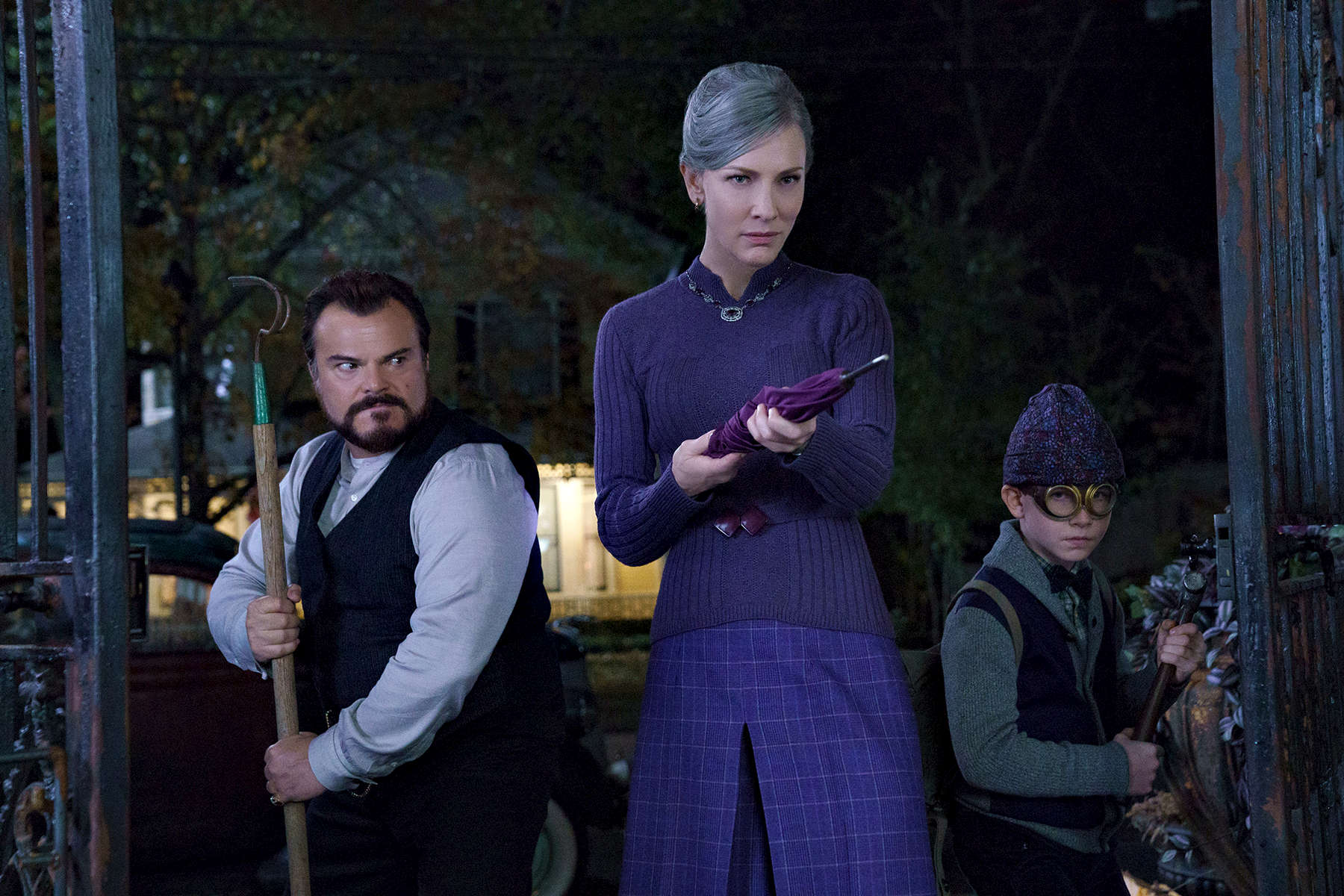 JACK BLACK, CATE BLANCHETT, and OWEN VACCARO star in The House with a Clock in Its Walls, from Amblin Entertainment.  The magical adventure tells the spine-tingling tale of 10-year-old Lewis (Vaccaro) who goes to live with his uncle (Black) in a creaky old house with a mysterious tick-tocking heart.  But his new town's sleepy façade jolts to life with a secret world of warlocks and witches when Lewis accidentally awakens the dead.