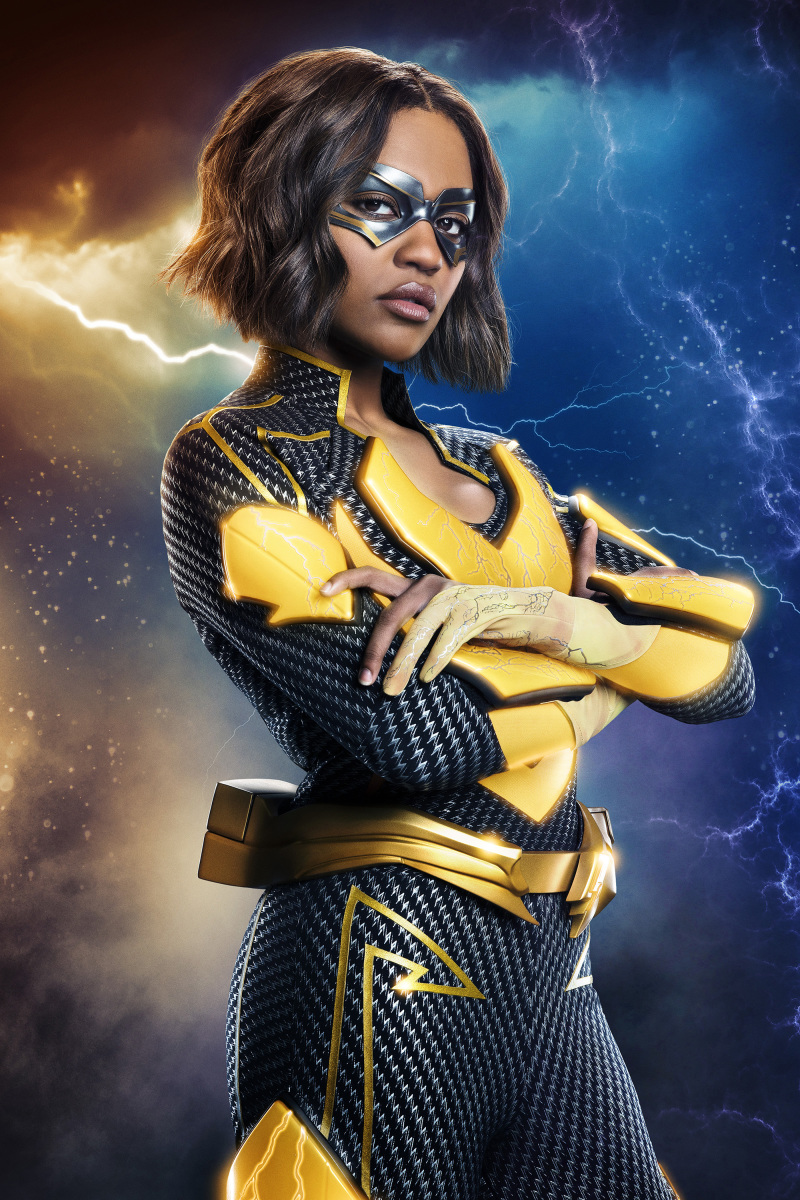 Black Lightning -- Image BLK2_FIRST_LOOK_LIGHTNING_V5.jpg -- Pictured: China Anne McClain as Lightning -- Photo: Quantrell Colbert/The CW -- © 2018 The CW Network, LLC. All rights reserved.