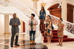 Eddie Murphy, Jermaine Fowler, KiKi Layne, Bella Murphy and Akiley Love star in COMING 2 AMERICA. Photo: Quantrell D. Colbert© 2020 Paramount Pictures