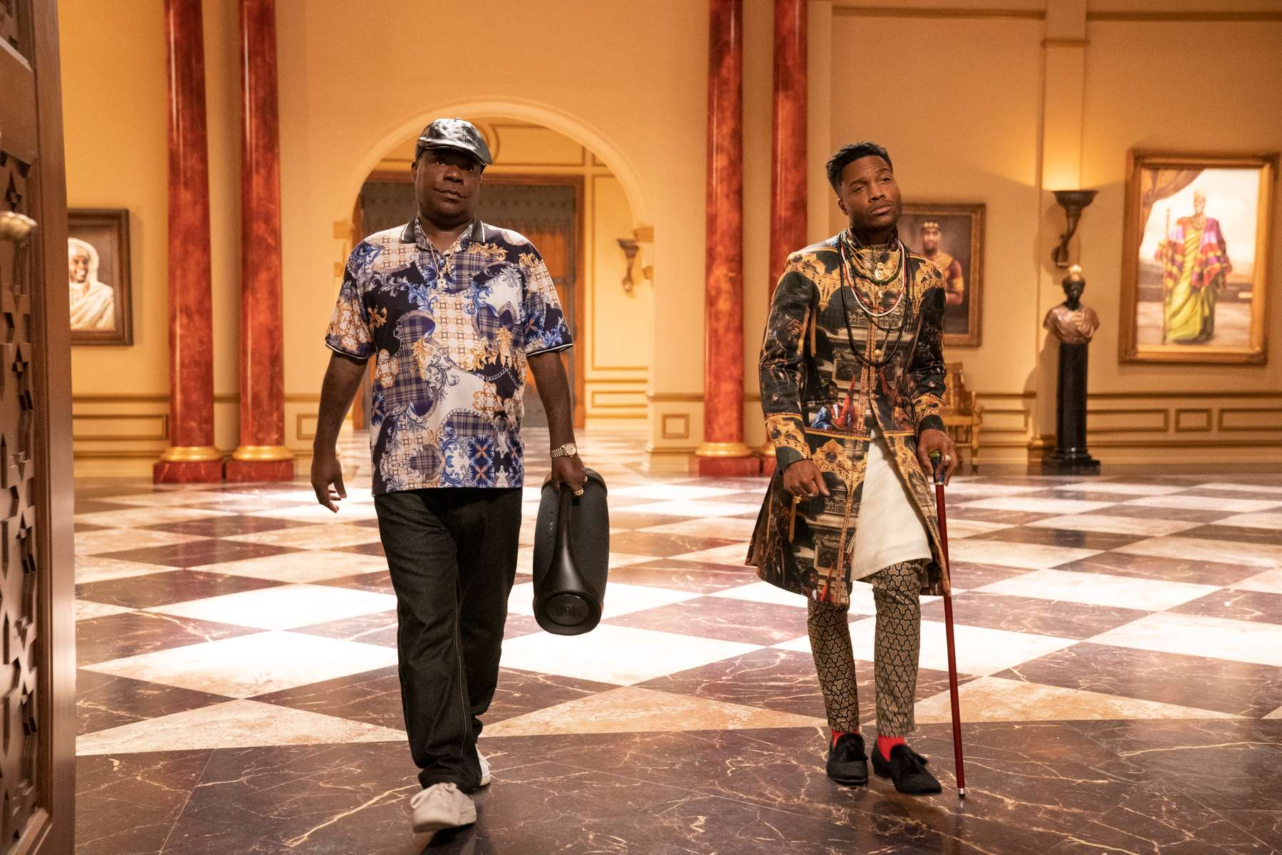 Tracy Morgan and Jermaine Fowler star in COMING 2 AMERICAPhoto: Quantrell D. Colbert© 2020 Paramount Pictures