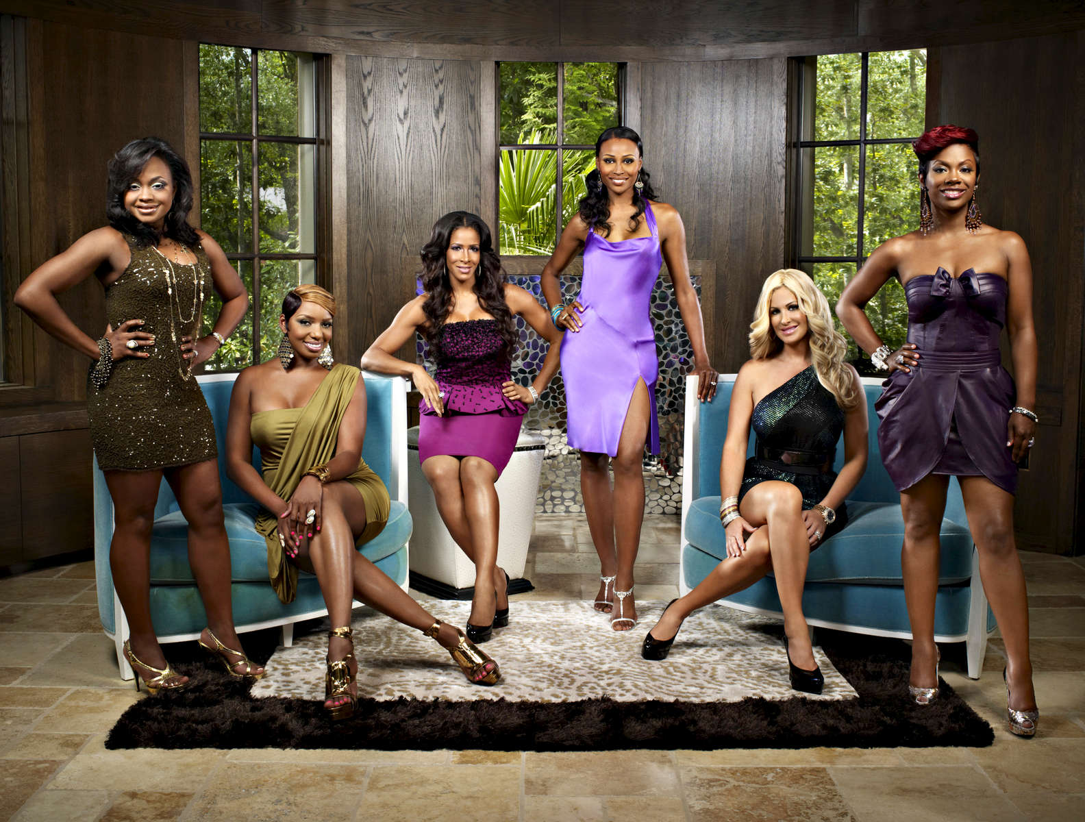 THE REAL HOUSEWIVES OF ATLANTA -- Season:3 --Pictured: (l-r) Phaedra Parks, NeNe Leakes, Sheree Whitfield, Cynthia Bailey, Kim Zolciak, Kandi Burruss-- Photo by: Quantrell Colbert/Bravo