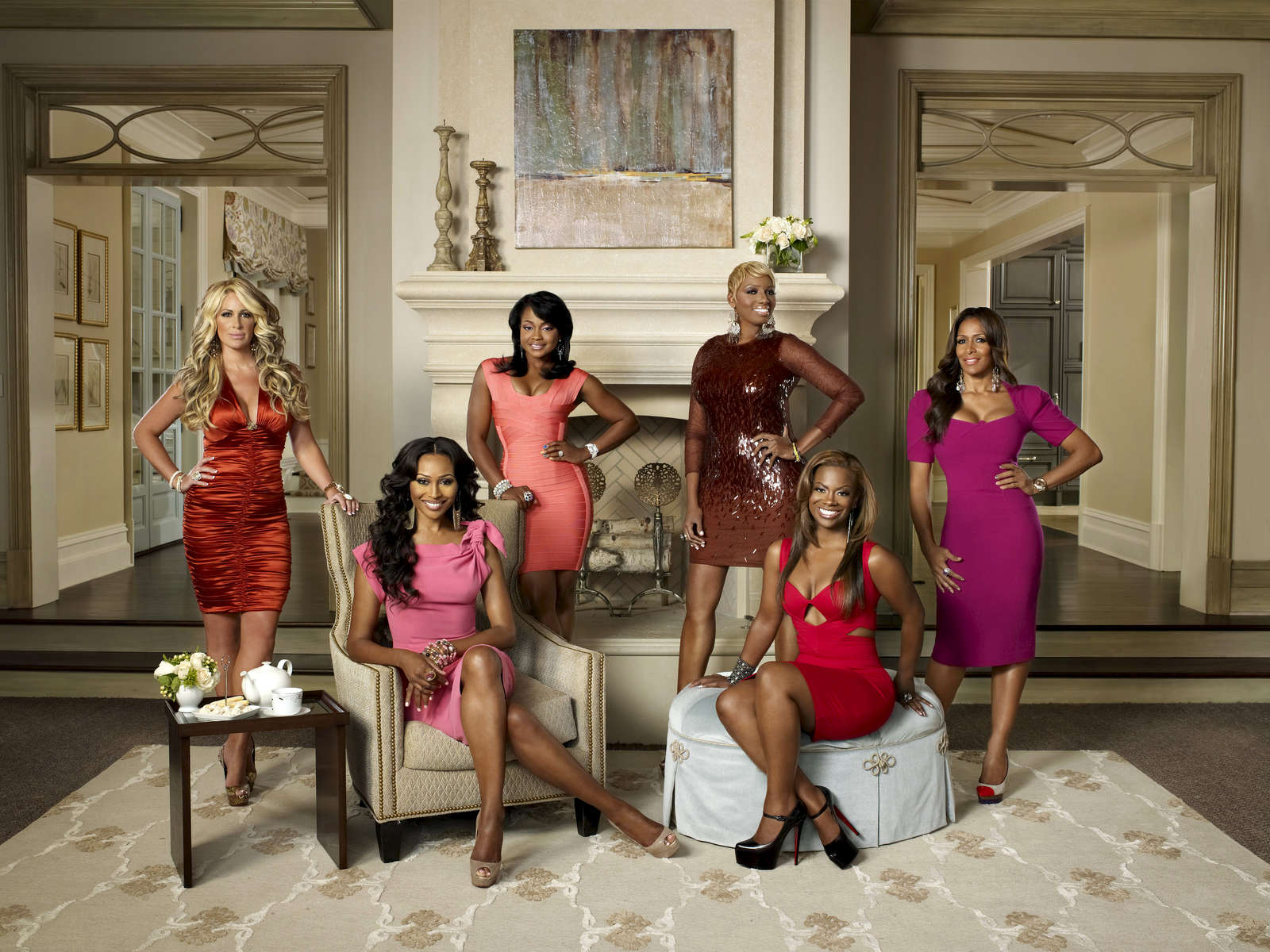 THE REAL HOUSEWIVES OF ATLANTA -- Season:4 -- Pictured: (l-r) Kim Zolciak, Cynthia Bailey, Phaedra Parks, NeNe Leakes, Kandi Burruss, Sheree Whitfield -- Photo by Quantrell Colbert/Bravo