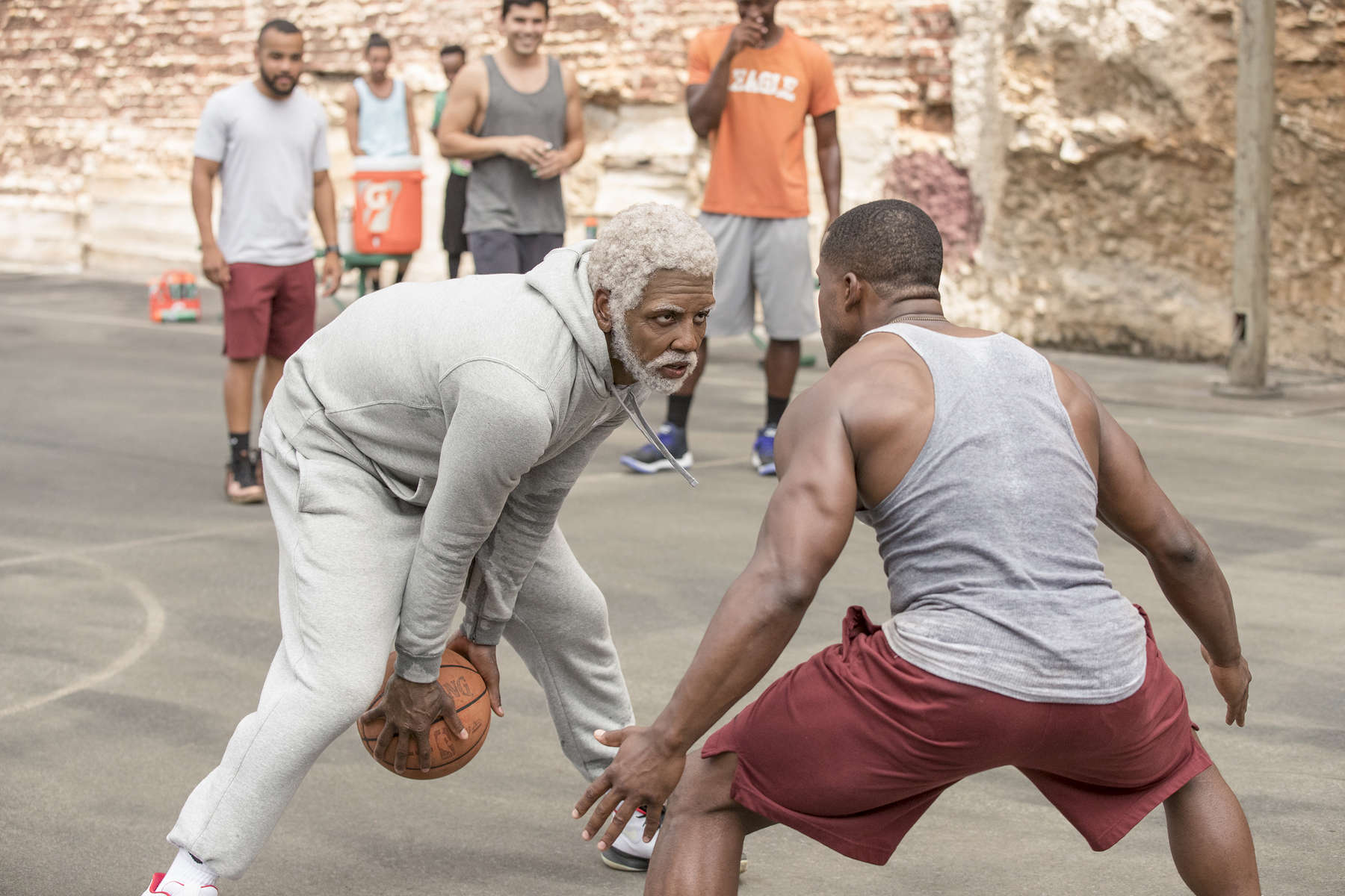 Kyrie Irving as {quote}Uncle Drew{quote} in UNCLE DREW. Photo courtesy of Lionsgate.