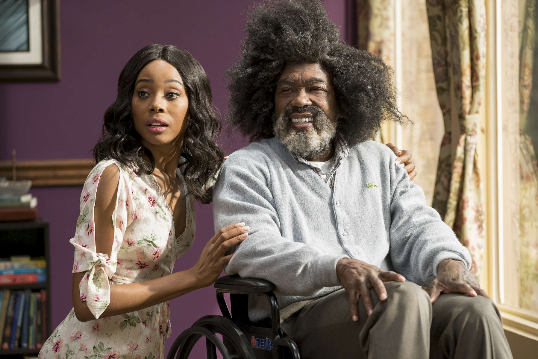 Erica Ash as {quote}Maya{quote} and Nate Robinson as {quote}Boots{quote} in UNCLE DREW.