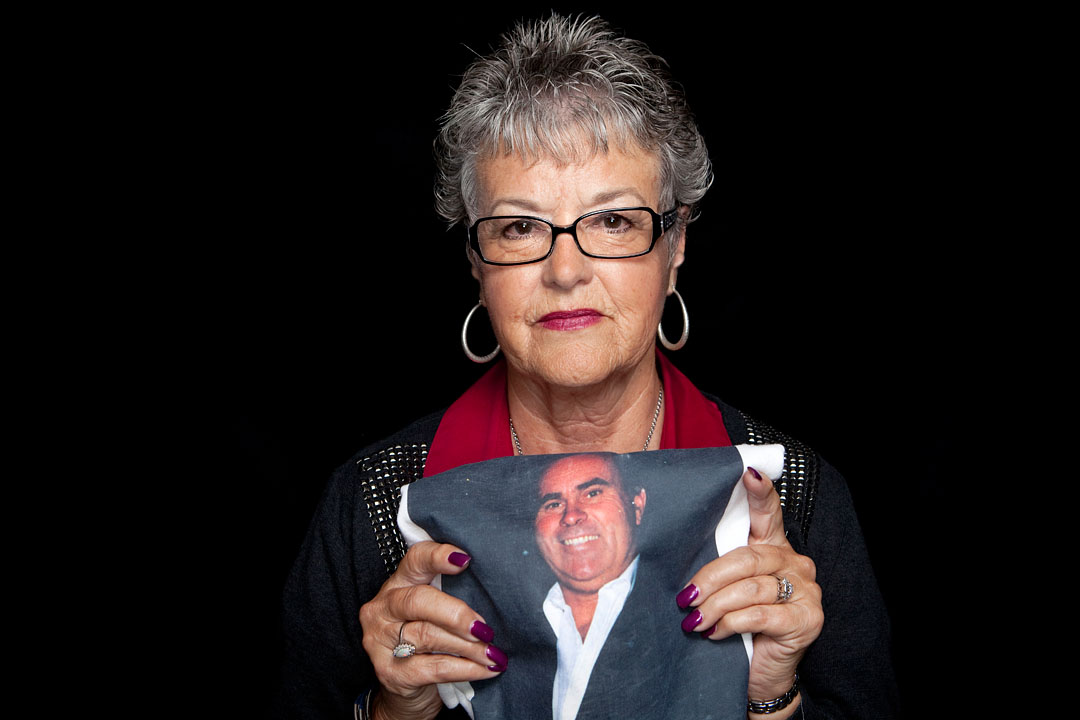 Cheryl Ward-Kaiser holds a picture of her late husband James Ward. James was shot and killed during a home invasion June 14, 1991 in Salinas.