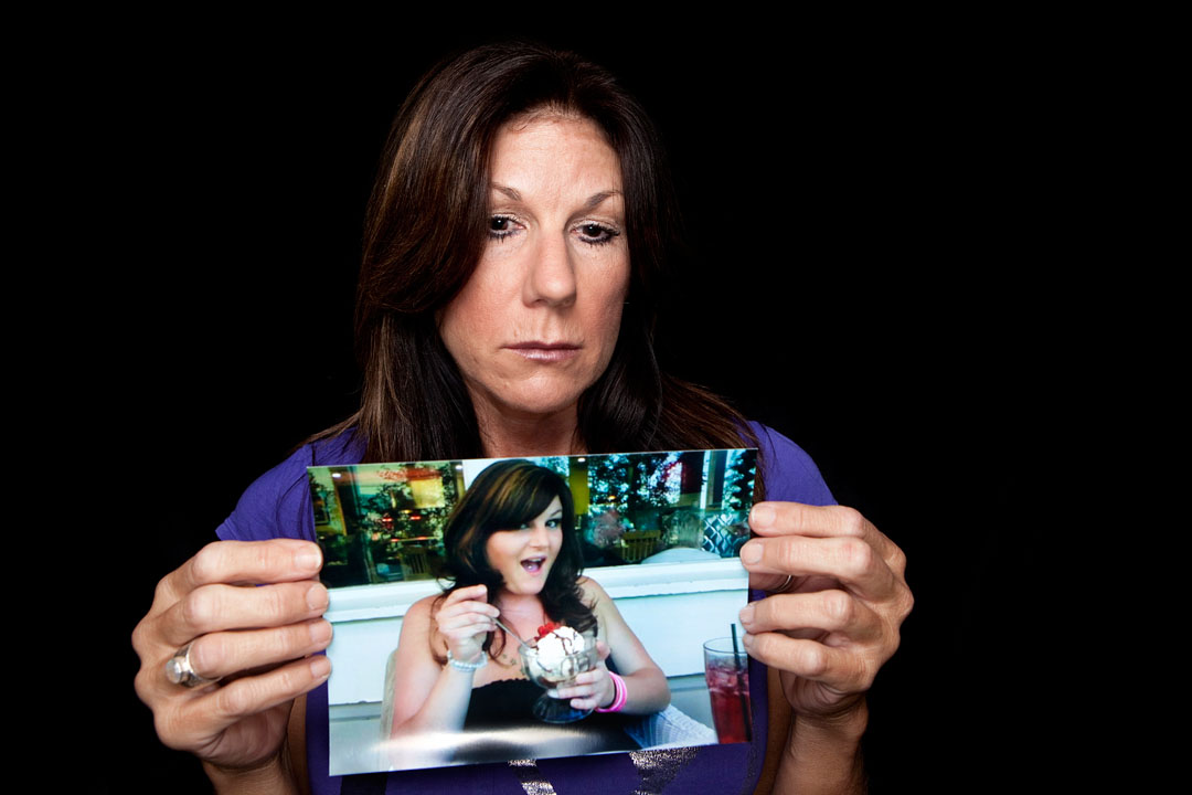 Pamela Pipitone holds a picture of her late daughter Ryann Bunnell Crow. Ryann had been strangled, shot and hit over the head with hammer by her husband Jesse Crow on Jan. 30, 2010, in a remote area near Del Monte Avenue and Highway 1 between Castroville and north Marina.