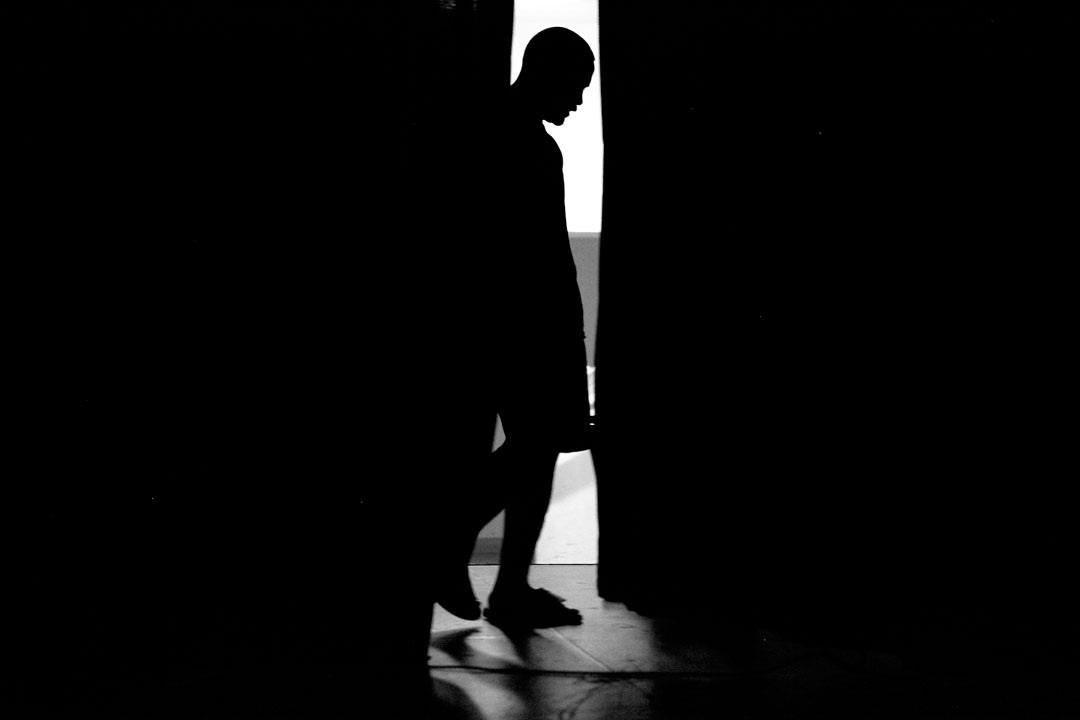 Paradise Vaovasa waits backstage for his fight at the Central Coast Throwdown cage fights. The popularity of mixed martial arts has hit Salinas with the first legal amateur cage fights being sanctioned in California in 2010.