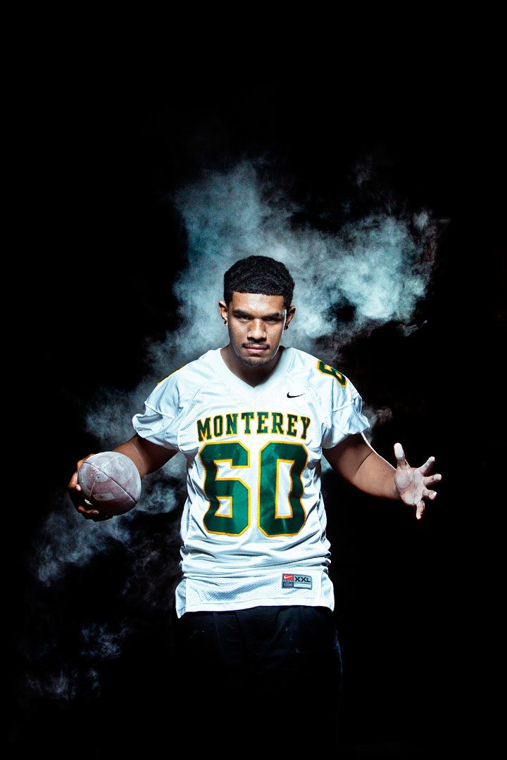 Monterey's Fine Latu, 2011 All-County offensive football team.