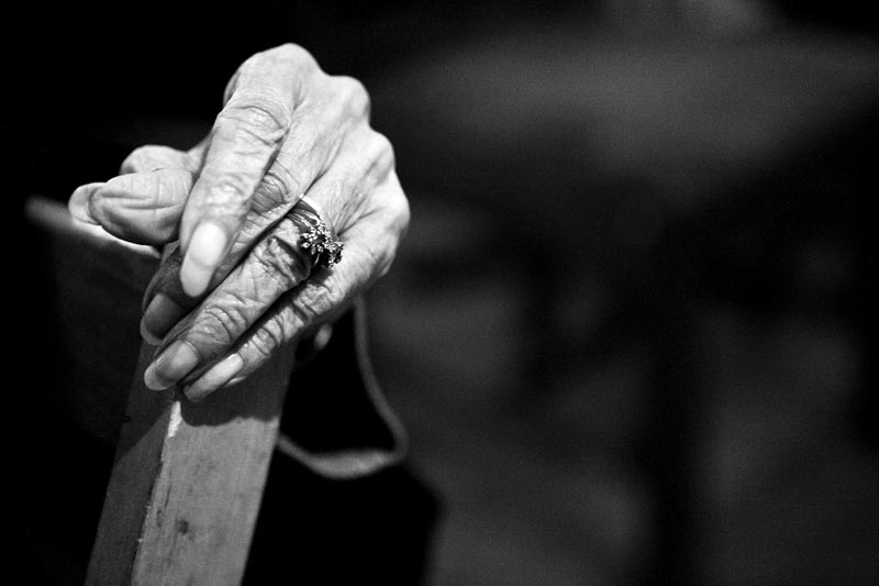 Her hands tell her story. The rings and wrinkles show the years Grace Linkhorn has witnessed in her time. This election marks another historic event Linkhorn bears witness to, as she is excited by the prospect of an African American president.