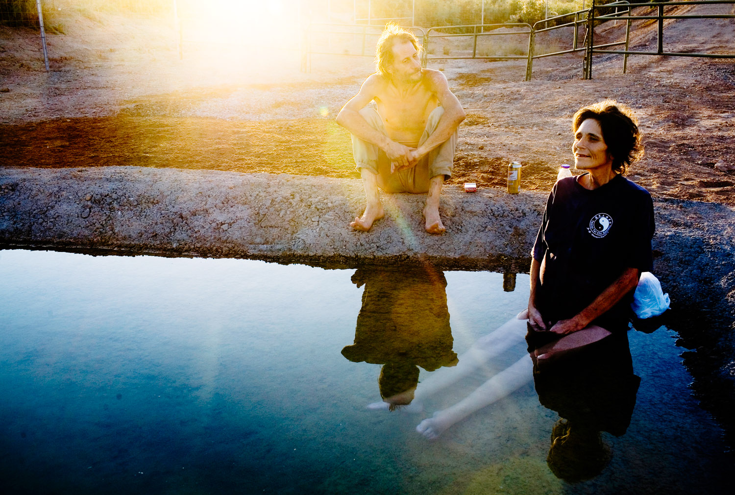 """Following her last wishes, Jerry takes Darla down to a watering hole near the irrigation canals so that she can sit in the water. She said, """"I love the water, this is what I have been waiting for."""" Jerry added, """"I just want to make her last days here peaceful and happy."""""""