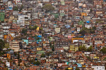 Photographic landscape of the favela or slum of Rocinha, the largest in Rio de Janiero, Brasil.
