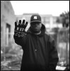 Medium format photographic film portrait of Houston rap artist, Spank D of ABN.
