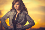 Photographic portrait of model and dancer, Lacey Grantz, taken at sunset in Houston, Texas.