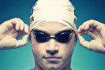 Photographic portrait of swimmer Matt Barber during his time at Kingwood High School in Houston, Texas.