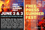 FREE PRESS SUMMER FEST2012 AD CAMPAIGN
