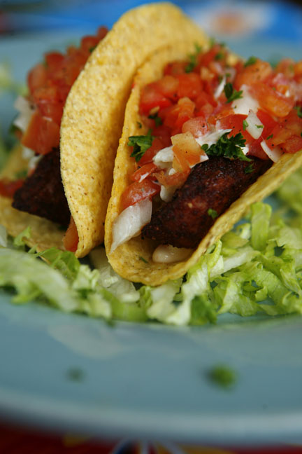 Grilled Chili Crusted Ahi Tuna Tacos