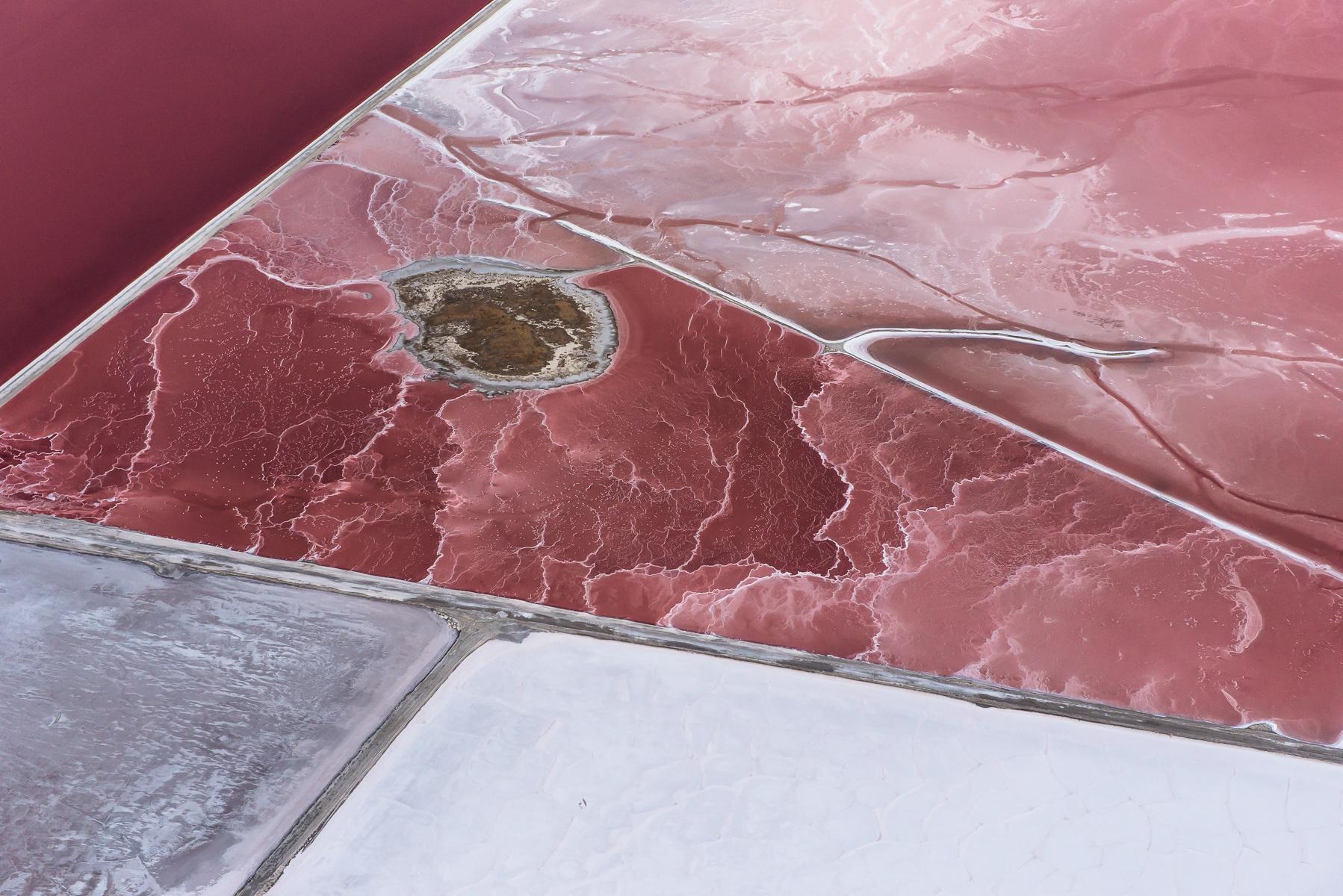 Salt Evaporation Pond. Great Salt Lake, Utah.