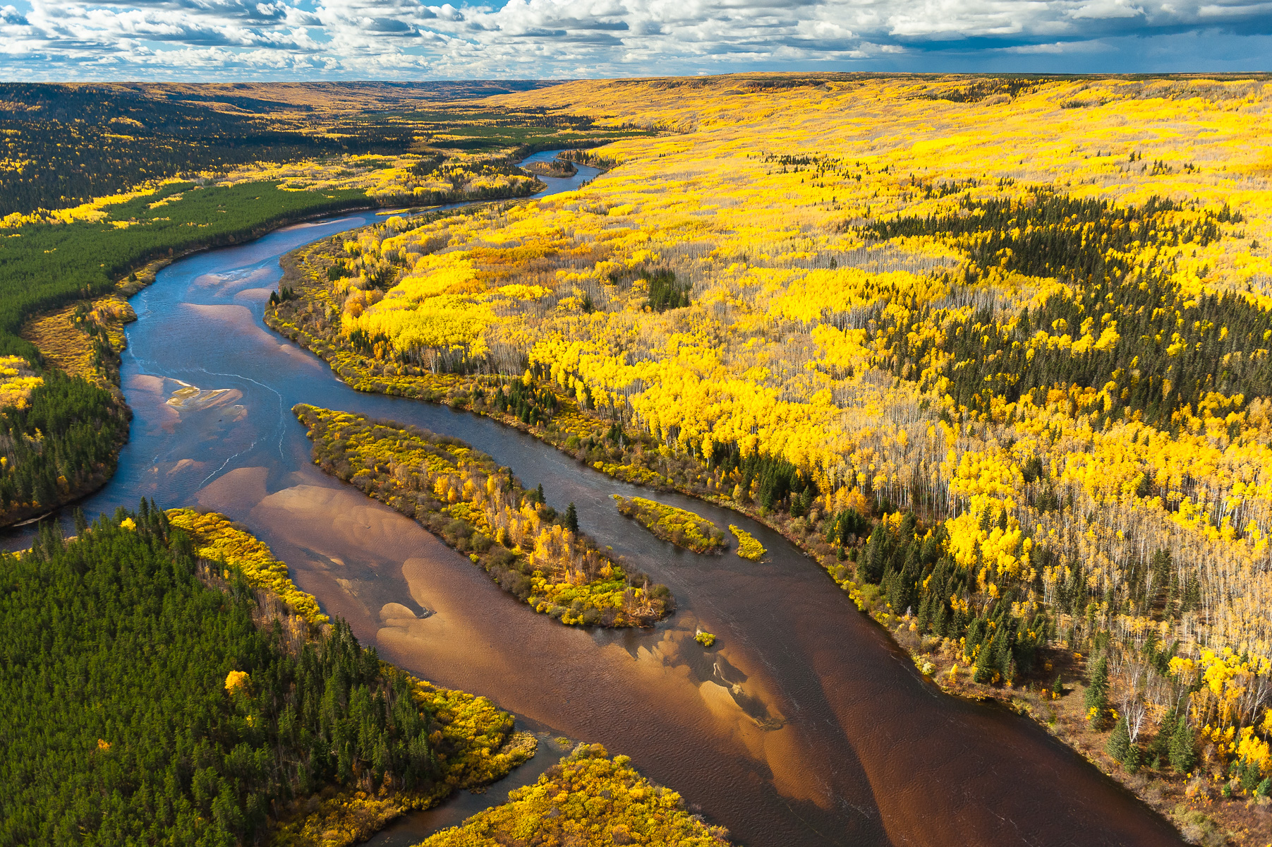 Located just east of Fort McMurray, Alberta, the Clearwater joins the Athabasca River as it winds its way north through the Tar Sands, accumulating toxic waste from the vast, unlined and leaching tailings ponds which border it on either side.