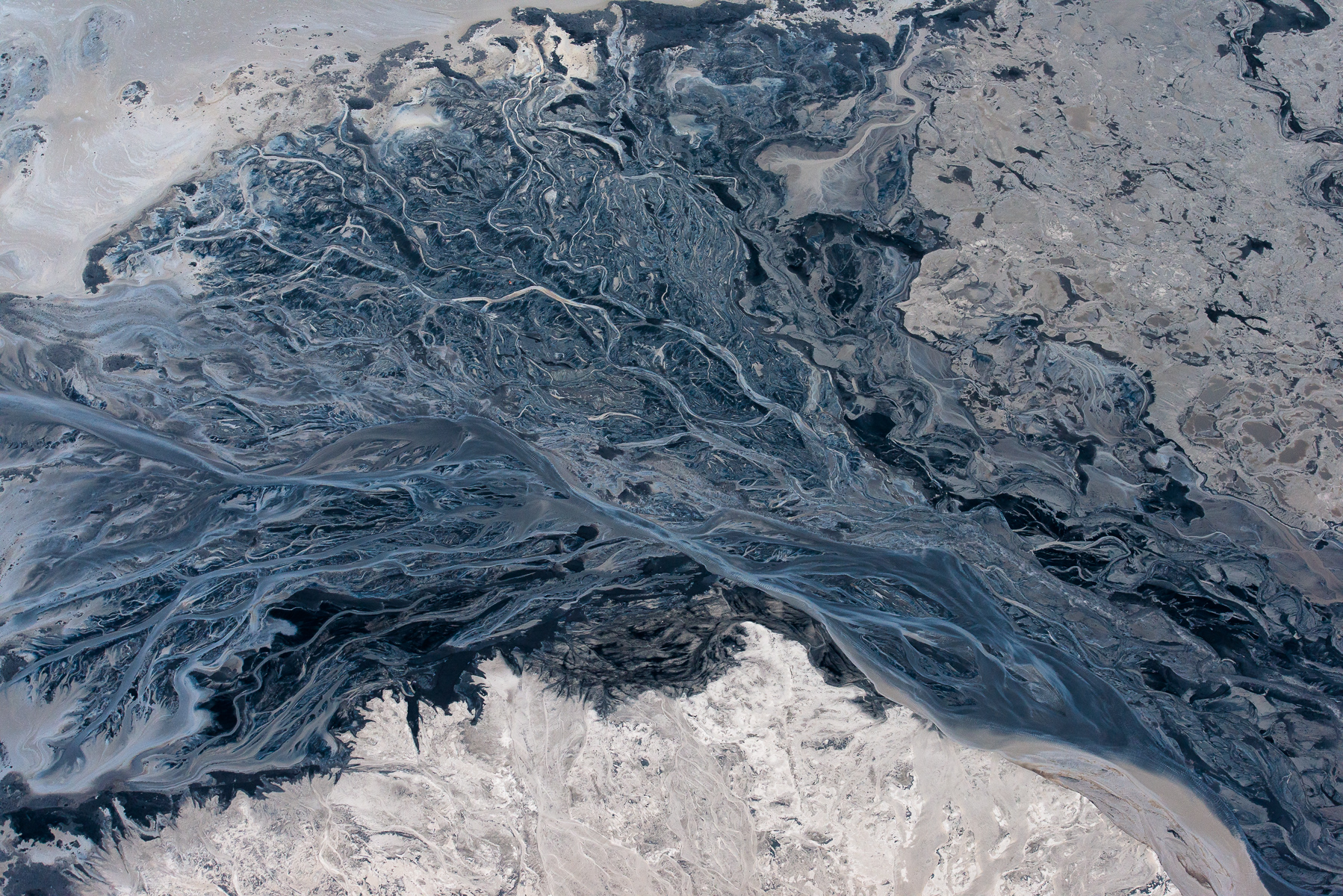 "Tar Sands tailings pond abstract.Limited Edition Fine Art PrintsAll prices in U.S. dollars.Prices are for prints only and do not include tax or shipping.16""x24""  		edition of 25	  /  $100020""x30""		edition of 15  /  $150030""x45""		edition of 10	  /  $3500	40""x60"" / 	       edition of 6   /   $6000"