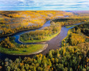 Located just east of Fort McMurray Alberta, the Clearwater joins the Athabasca River as it winds its way north through the Tar Sands, accumulating toxic waste from the vast, unlined and leaching, tailings ponds which border it on either side. 24