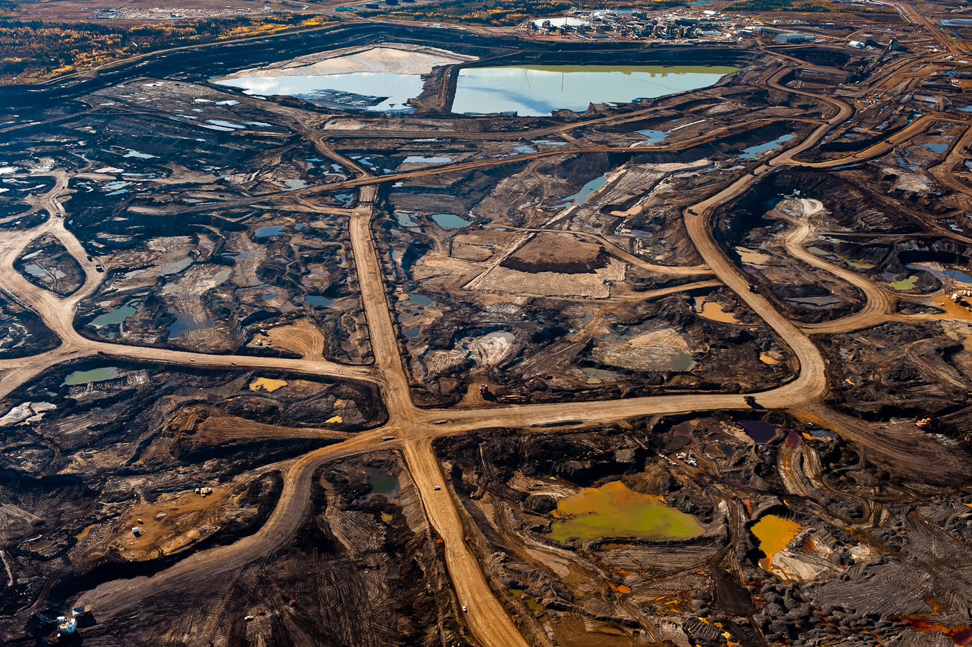 Tar Pit #3. Alberta Tar Sands, 2010.Exhibition print:40{quote}x60{quote} archival pigment print on Hahnemuhle bamboo, bonded to aluminum.