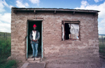 FG.Qunu.1.0406.ARAlbert Gamakulu, 47 yrs old, at his one room house on 3/29/99.  Lives in Nelson Mandela\'s village of Qunu.Photo/Art by:Anacleto Rapping