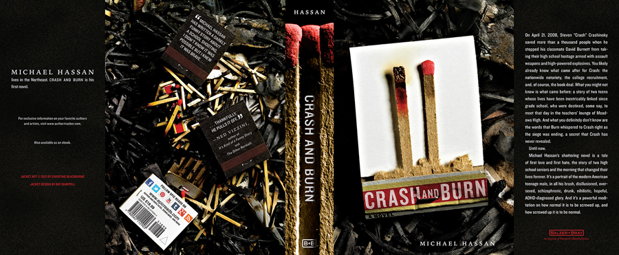Crash and Burn cover art for HarperCollins