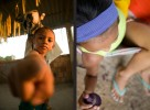 Children in a village on the Amazon, photographed for an NGO