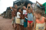 Children from tent village outside of Natal, Brazil.