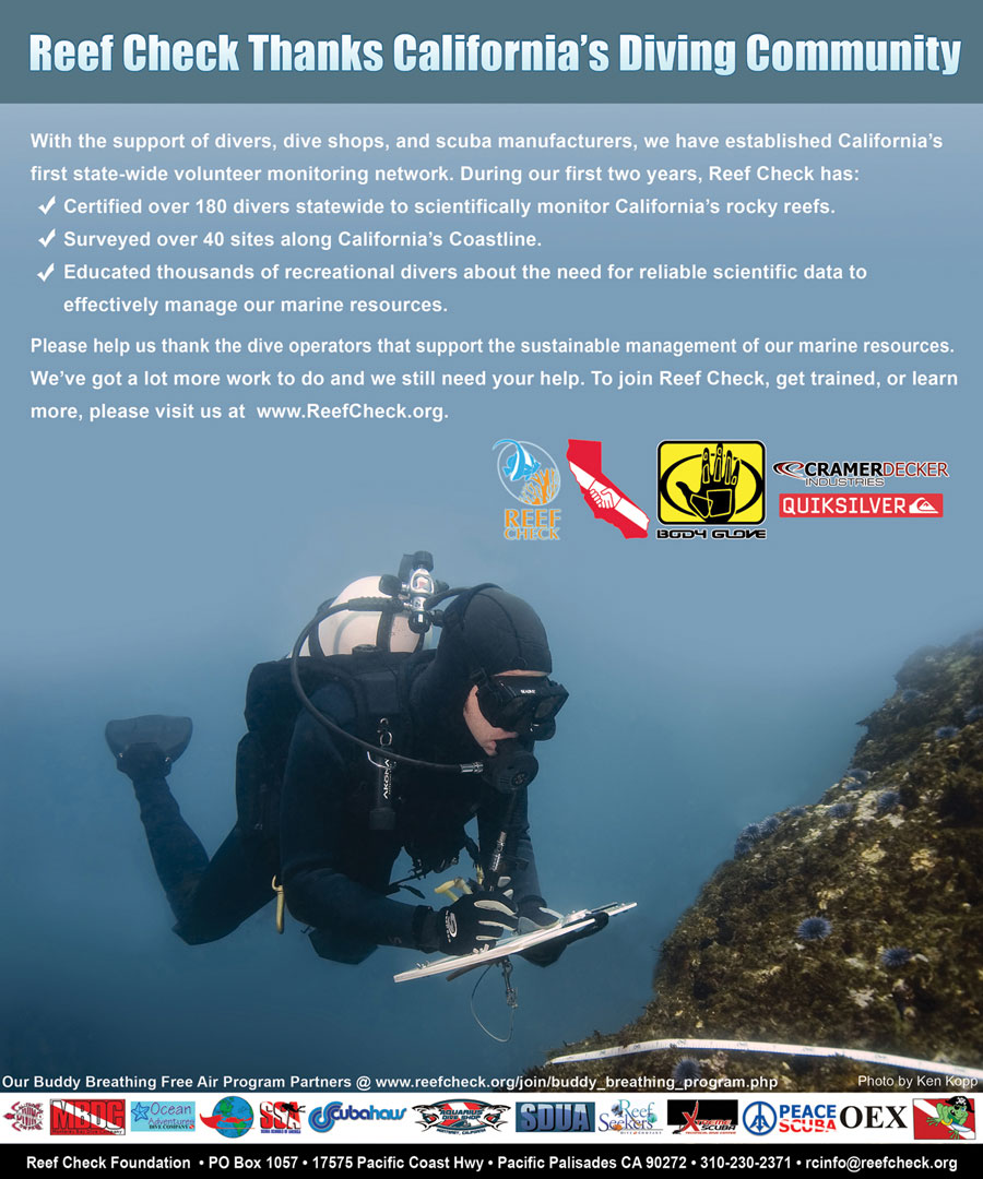 This was shot during a Reef Check training session in Southern California.  The shot represents the iconic elements of Reef Check:- Slate- Transect Line (tape)- A Rocky ReefThe shot was ultimately used for their ads and other promotional materials as a representation for the organization.
