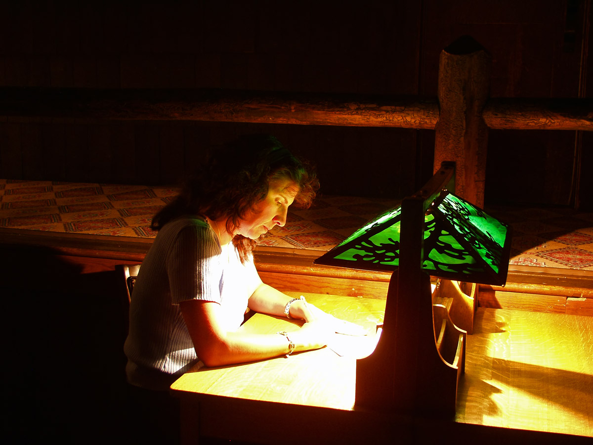 I found Jaye on the top floor of the Inn, lights out, writing to her parents.