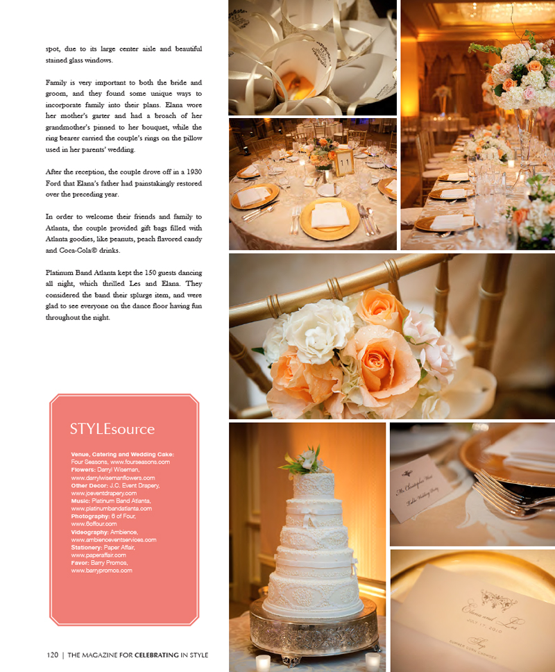 Les & Elana's gorgeous wedding complete wtih a renovated Modal A after the famous Rambling Wreck at Peachtree Christian Church and Four Season Atlanta.Click here for more details.