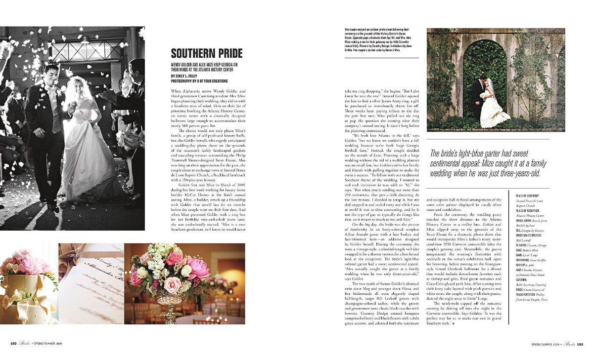 In this first anniversary of this publication we had editorial along with the beautiful wedding of Wendy and Alex Mize. Swan House, Atlanta History Museum, luxury wedding, buckhead, lenox, elegant, classic weddings, bride magazine