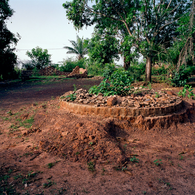 The rubble of former homes in Niambli, Ivory Coast.