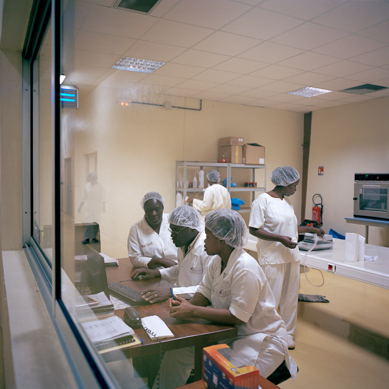 Employees of Choco Ivoire in San Pedro, Ivory Coast.