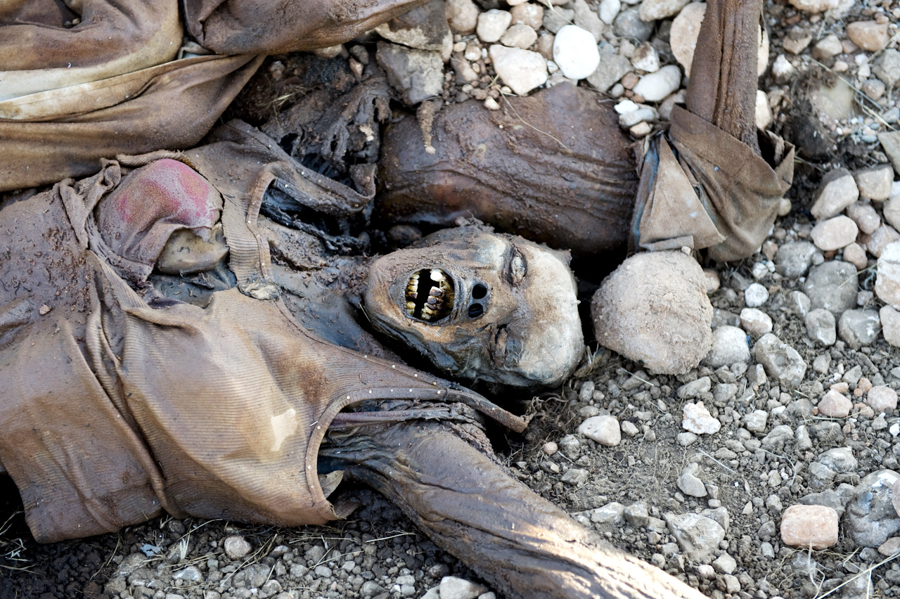 Thousands were dumped in piles of mass graves and not even buried