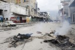 Bodies burning in the streets of Port au Prince