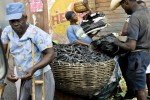 Selling coal in the streets of Port au Prince