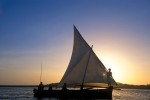 Sailing around Lamu Island