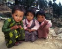 Tibetan refugee girls dressed for the new year