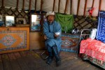 Nomad in his yurt