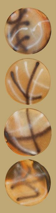 técnica: comales artesanales de barro y pinturadimensiones: por comal 50cm diametroDISPONIBLE