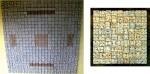Murales de cerámica de alta temperatura como éste compuestos de vasijas comprimidas se pueden elaborar en diferentes tamaños.