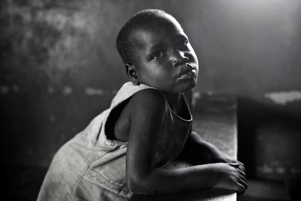 Girl at Norwegian Refugee Council work center near Gulu, Uganda